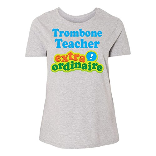 inktastic - Trombone Women's Plus Size T-Shirt 2 (18/20) Steel Grey ()
