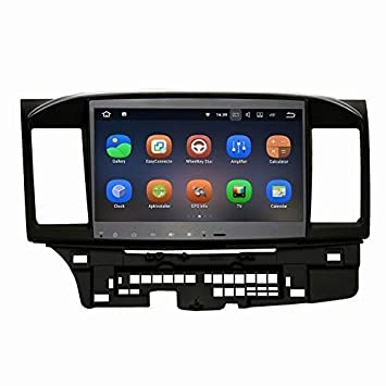 SYGAV Android 7.1.1 Nougat Car Stereo for 2008-2013 Mitsubishi Lancer EVO X Ralliart with Rockford Fosgate AMP GPS Navigation Radio