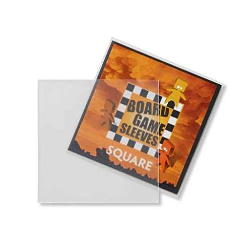 Arcane Tinman Board Game Sleeves: Square (Non-Glare) 69x69mm, Clear AT-10429