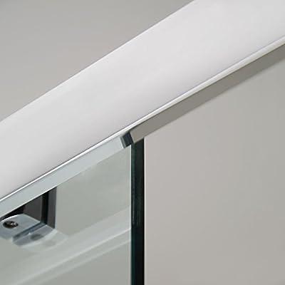 Para mampara de ducha de esquina Walk In deslizante de 1700 alcoba hueco 8 mm Panel de pantalla de vidrio templado (reversible* Tamaño ajustable *) Rectangular diseño de fácil acceso limpiar o
