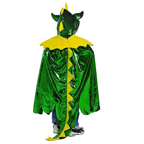 Great Pretenders Dragon Cape, Green (Size 5/6) Dress-Up -