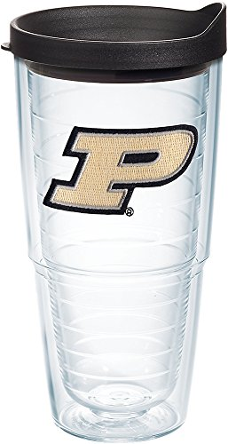 Tervis 1204108 Purdue Boilermakers Logo Tumbler with Emblem and Black Lid 24oz, -