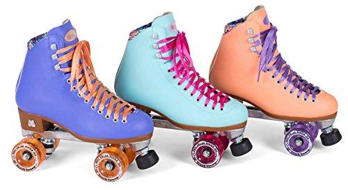 Outdoor Skates - New! Moxi Beach Bunny Indoor / Outdoor Quad Roller Skates + Toe Guards! (Peach Blanket, Ladies 8)