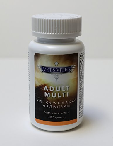 Liquid Multivitamin Capsule for Men & Women: High Dosage Vitamin B, B1, B2, B6, B12 & Biotin - Fast Absorption w/ 22 Vitamins & Minerals - Supporting US Veterans (60 Capsules)