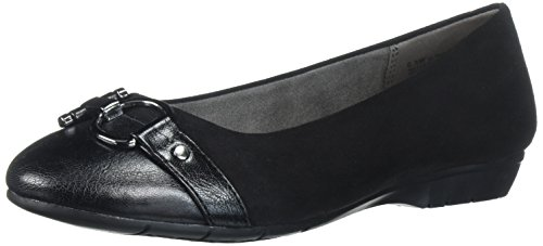 Aerosoles A2 Women's Ultrabrite Ballet Flat, Black Fabric, 8.5 M US