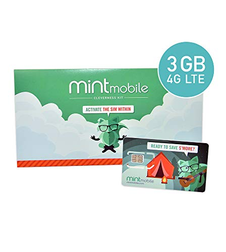 $15/Month Mint Mobile Wireless Plan | 3GB of 4G LTE Data + Unlimited Talk & Text for 3 Months (3-in-1 GSM SIM Card) from Mint Mobile