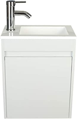 """Bathroom Vanity W/Sink Combo 16"""" for Small Space by eclife"""