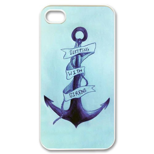 iphone 4/4s Covers Hard Back Protective-Cute Colorful Stripe-Anchor Navy Case Perfect as Christmas gift(7) (Dropship Personalized Gifts)