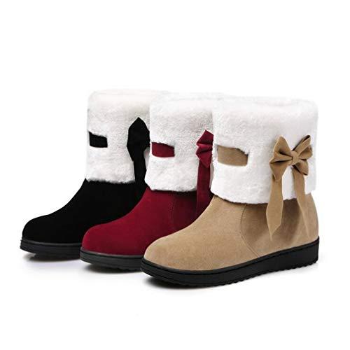 Slip nero Studente Sci Albicocca Outdoor Rosso colore Snow Invernali Dimensione Rosso 33 Stivaletti albicocca ons Winter Stivali Hy ladies Antivento Da Boots Scarpe Warm Flat Boots Donna Comfort HPT1qa