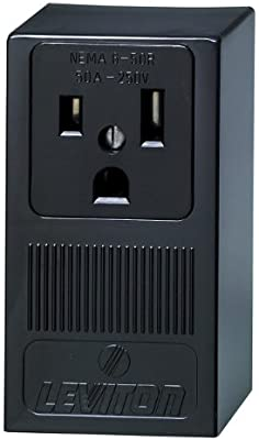 Leviton 5378 50 Amp, 250 Volt, Surface Mounting Receptacle, Straight on