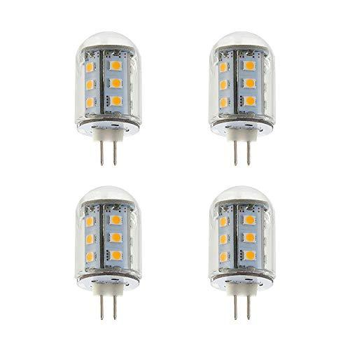Makergroup T3 G4 Bi-pin LED Light Bulbs 12VAC//DC Low Voltage 2Watt Warm White 2700K-3000K for Outdoor Landscape Lighting Path Lights Deck Lights Step Lights,Paver Lights 4-Pack Maker Group