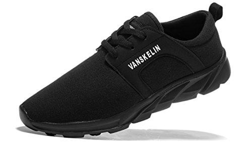 VANSKELIN - Zapatos Planos con Cordones hombre negro