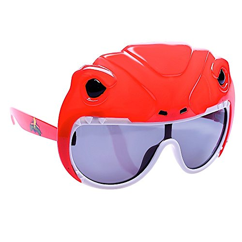 Sun-Staches Costume Sunglasses Lil' Characters Power Ranger Red Party Favors UV400 -