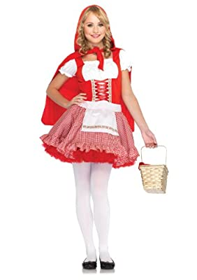 Leg Avenue Junior's 2 Piece Red Hiding Hood Costume