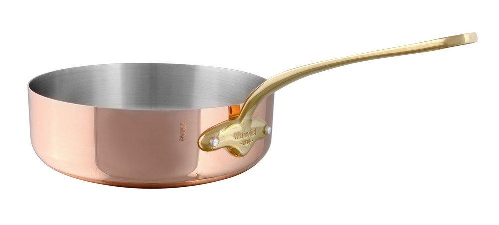 Mauviel 6723.16 M'Heritage M'150B Copper Saute Pan with Lid 1.1 QT- 6.3