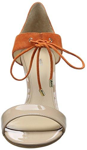 HUGO 50327997, Sandalias de Tacón Mujer Beige (Light Beige 271)