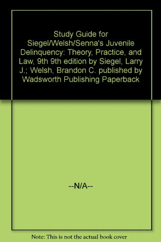 Buy juvenile delinquency theory practice and law 9th edition