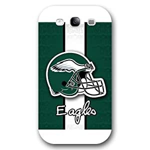 SMMNKOL? Customized NFL Series Case for Samsung Galaxy S3, NFL Team Philadelphia Eagles Logo Samsung Galaxy S3 Case, Only Fit for Samsung Galaxy S3 (White Frosted Shell)