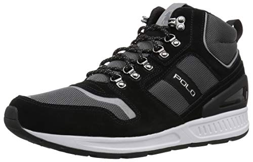 Polo Ralph Lauren Men's TRAIN100MID Sneaker, Black/White, for sale  Delivered anywhere in USA