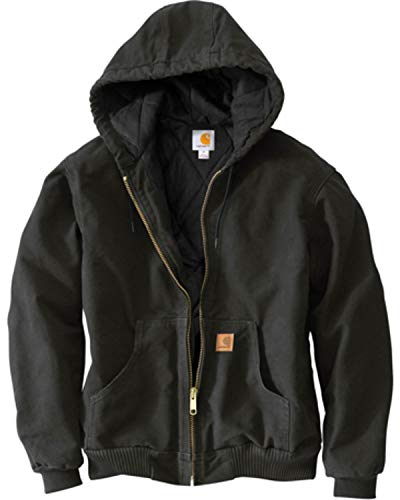 Carhartt Men's Sandstone Active Jacket,Black,X-Large