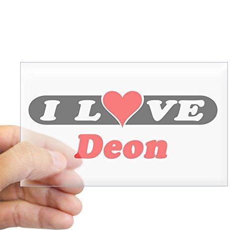 CafePress - I Love Deon Rectangle Sticker - Rectangle Bumper Sticker Car Decal