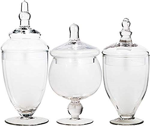 Home Essentials 3013 Apothecary Jar BB Terra Set of 3