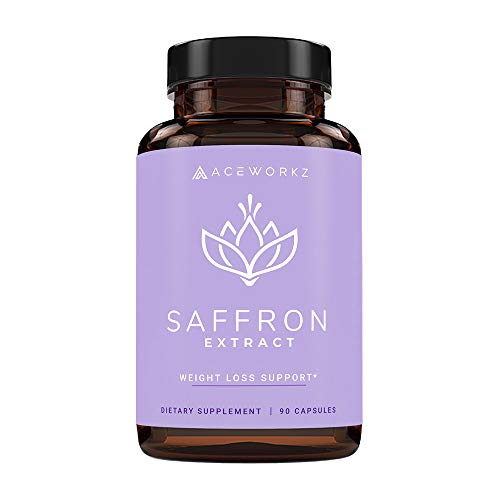 100% Pure Saffron Extract for Healthy Weight Loss – Natural Appetite Suppressant – Metabolism Booster – Energy & Mood…