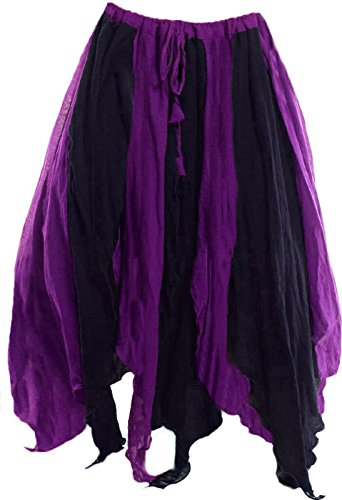 [Ships Out Next Day-RENAISSANCE COSTUME HALLOWEEN WITCH TRIBAL BELLY DANCE FAIRY PETAL SKIRT] (Pirate Belly Dance Costume)