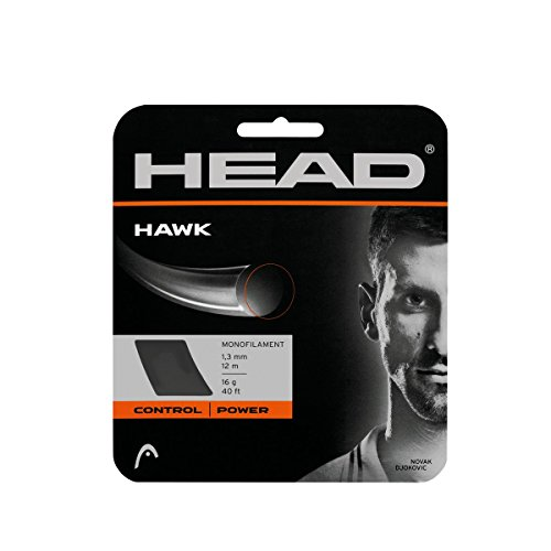 HEAD Hawk Tennis String Set, 17g, Grey - 17g String Set