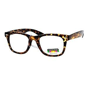 Multi Focus Progressive Reading Glasses 3 Powers in 1 Reader Square Horn Rim (tortoise, 3)