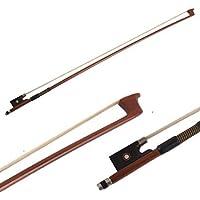 Violin Bow 4/4 Size Octagonal Stick Ebony Frog Horse Hair for Violin Parts (4/4)