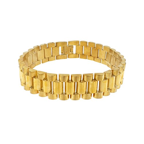 Lavencious Men's Stainless Steel Chain Link Bracelet 7.5