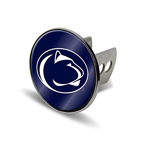 Rico NCAA Penn State Nittany Lions Laser Cut Metal Hitch Cover, Large, Silver ()