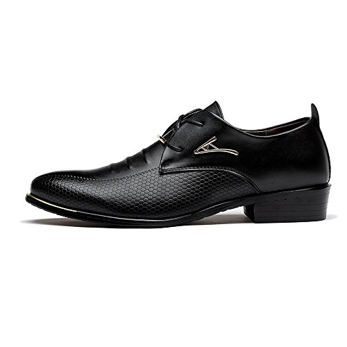 Blivener Men's Pointed Toe Classic Oxford Formal Business Dress Shoes Black US 7.5