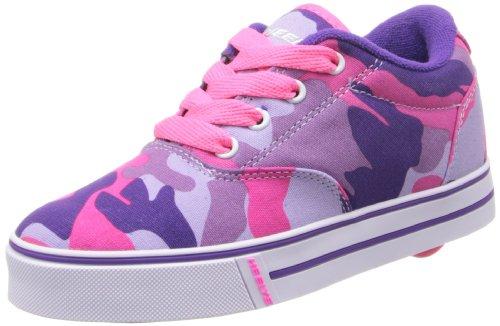 Heelys Launch Skate Shoe (Toddler/Little Kid/Big Kid),Purple Camouflage Canvas,13 M US Little Kid (Skateboard Purple Shoe)