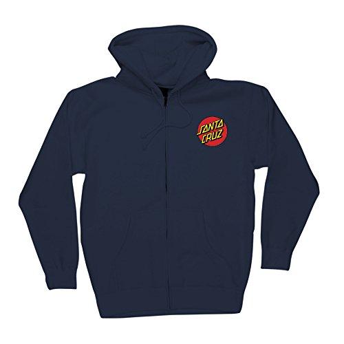 Santa Cruz Mens Classic Dot Hoody Zip Sweatshirt Medium Navy (Santa Hoodie)