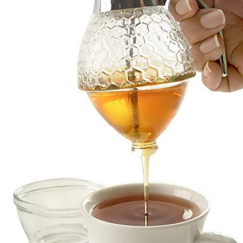 Wwweyi Portable Honey Dispenser Jar Kitchen Honey Storage Pot Storage & Organization from wwweyi