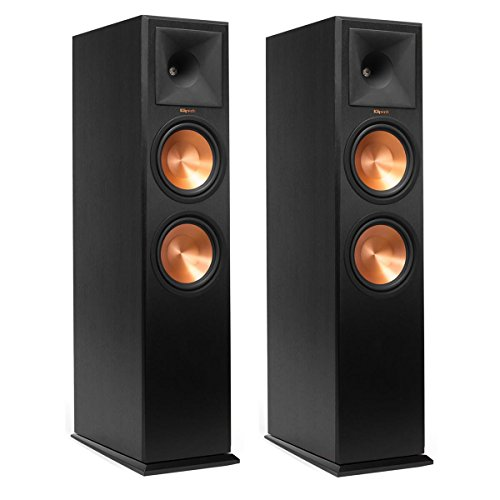 Klipsch RP-280F Reference Premiere Floorstanding Speaker with Dual 8 inch Cerametallic Cone Woofers (Ebony Pair) by Klipsch