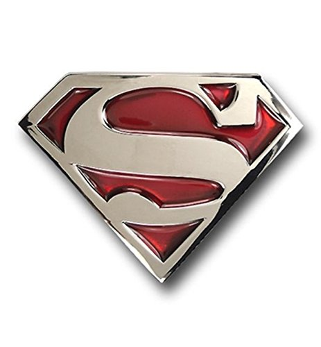 (Superman Belt Buckle Red Translucent DC Comics Logo Metal New Costume Accessory )