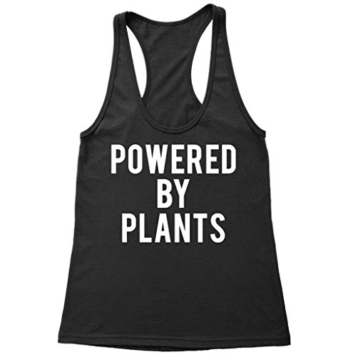 Powered by Plants Racerback Tank Top - Gifts for Vegan - Vegan Shirt