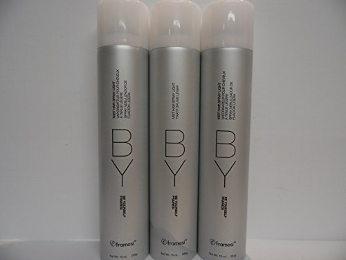 Framesi By Be Yourself (3 Cans) Mist Hair Spray Light (3 Pack) 10 Oz Cans