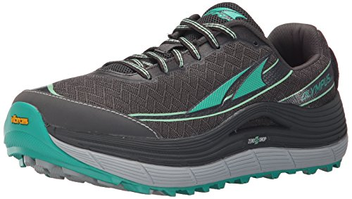 Altra Women's Olympus 2 Trail Running Shoe, Silver/Green, 9 M US