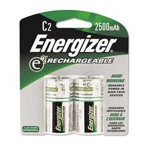 Energizer e2 Rechargeable, Size C, 2-Count (Pack of 3)