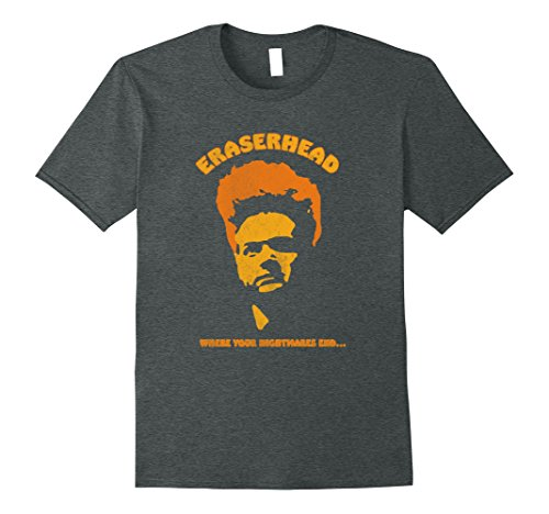 Mens Eraserhead horror cult movie tee shirt XL Dark Heather