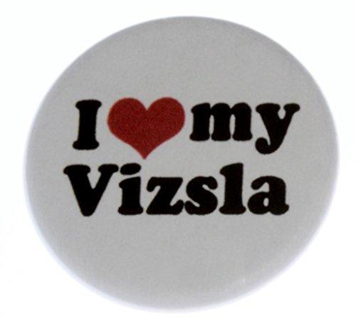 A&T Designs Unisex - I Love my Vizsla 1.25