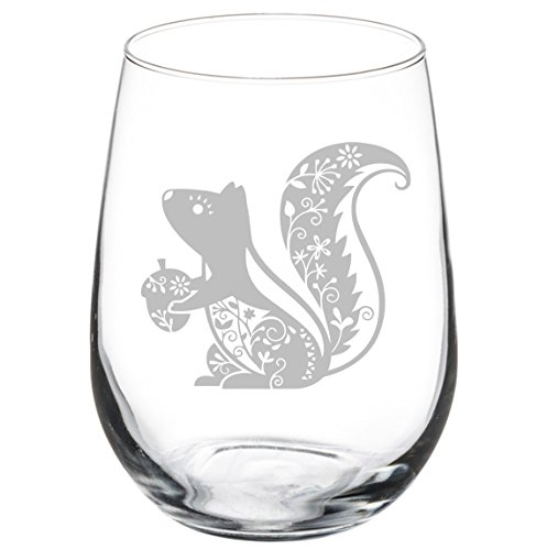 (Wine Glass Goblet Fancy Squirrel (17 oz Stemless) )