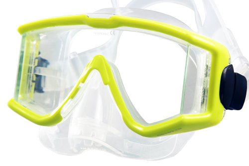 New Tilos Single Lens Panoramic View Scuba Diving & Snorkeling Mask with Purge -