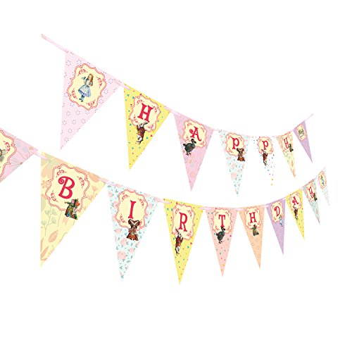 (ASVP Shop Alice in Wonderland Happy Birthday Banner for Mad Hatters Tea)