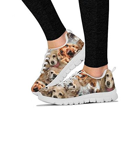 Your Choose Women's Breed Running All Women's Sneakers Pattern Cocker Casual Spaniel Shoetup Dog Print Shoes TRfwRqP