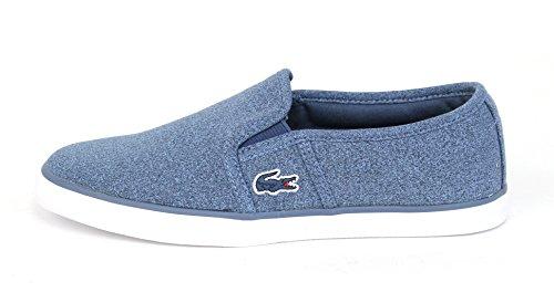 Lacoste Women's Gazon Sport JRS Fashion Sneaker, Blue/Blue, 9 M US